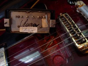 Signed Seymour Duncan Humbucker in Gibson Les Paul Guitarwacky.com