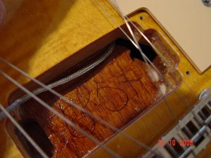 Gibson Les Paul Guitar Routed Pickup Cavity Guitarwacky.com