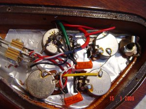 1978 Gibson SG Control Cavity Wiring Pots Caps Guitarwacky,com
