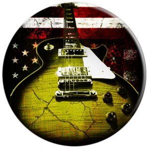 Les Paul American Flag Guitar Pop Socket Guitarwacky.com