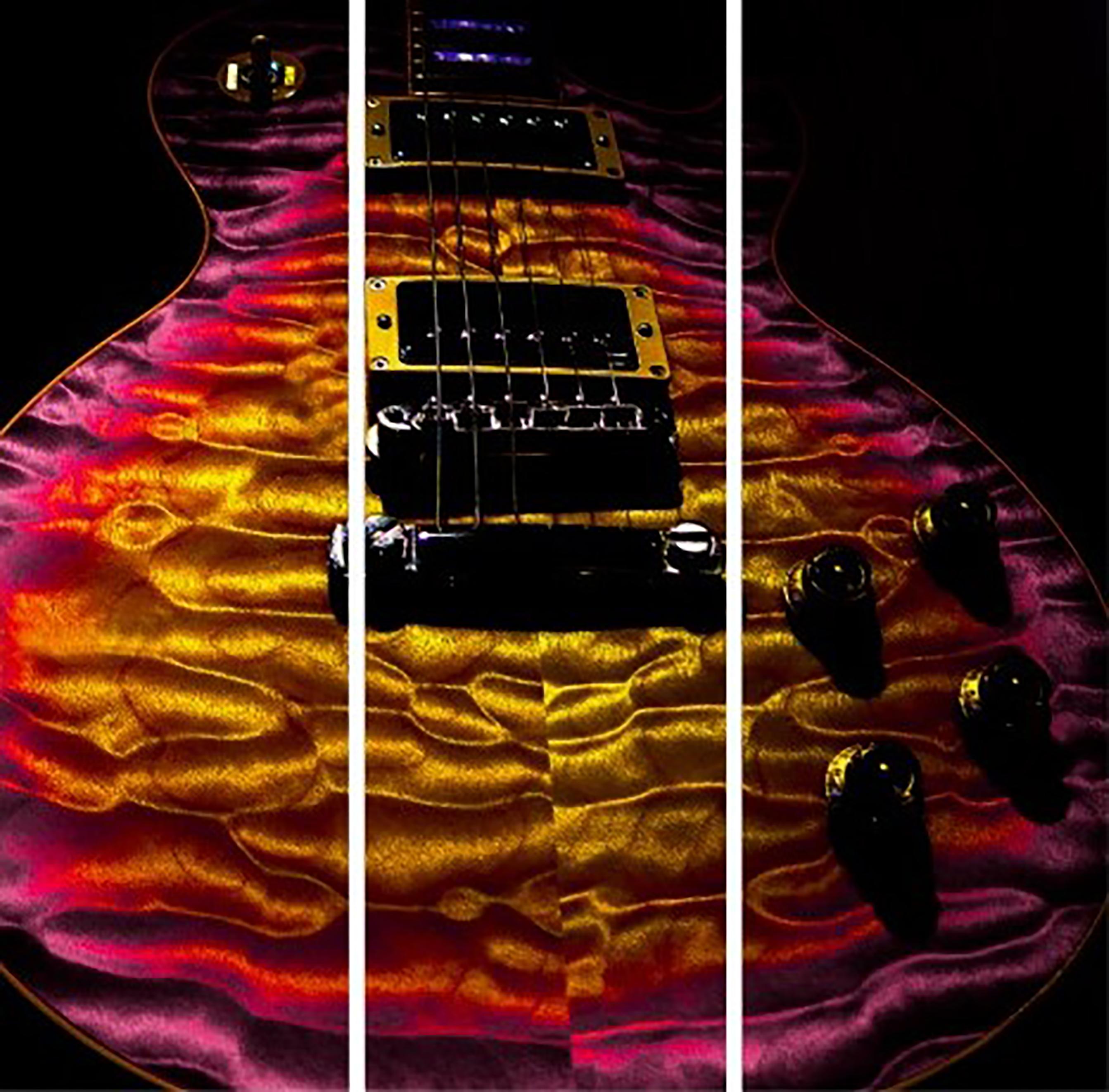 Guitar Quilt Top Triptych