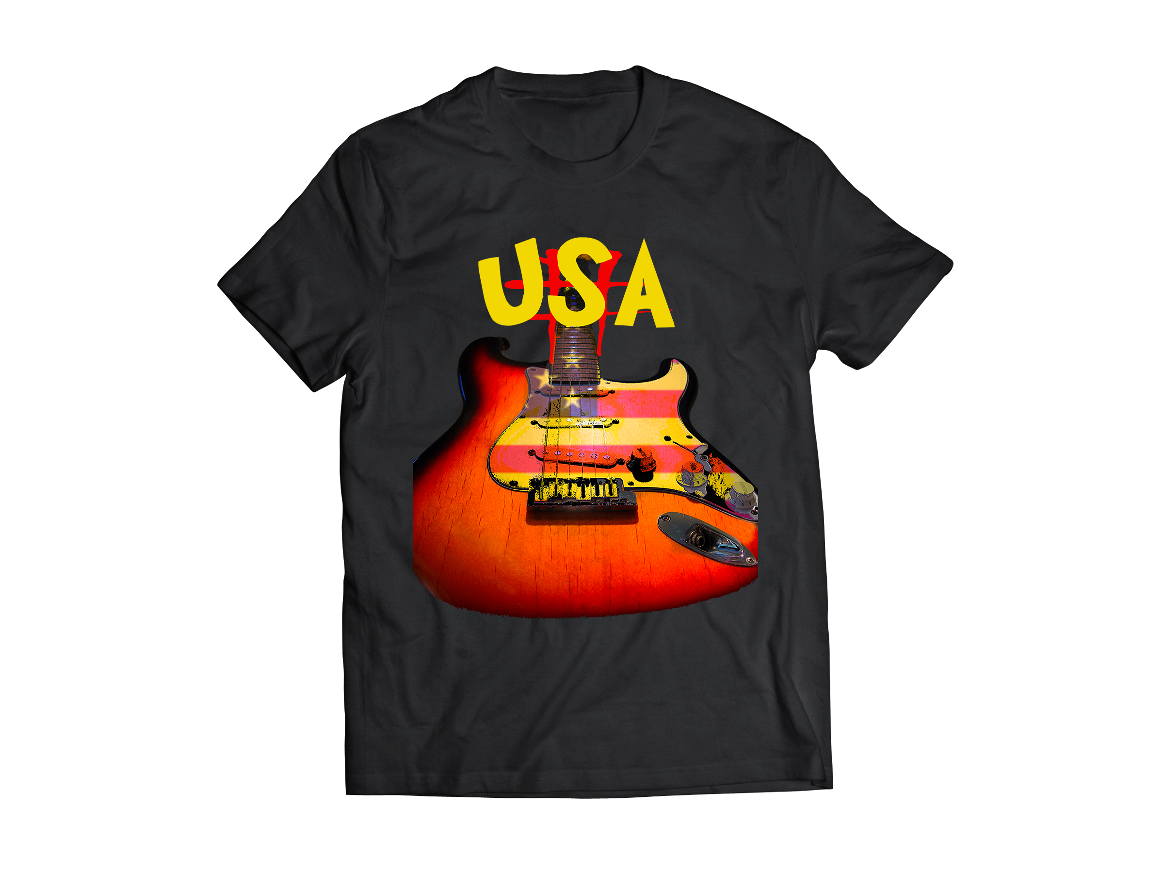 Fender Stratocater T-Shirt USA