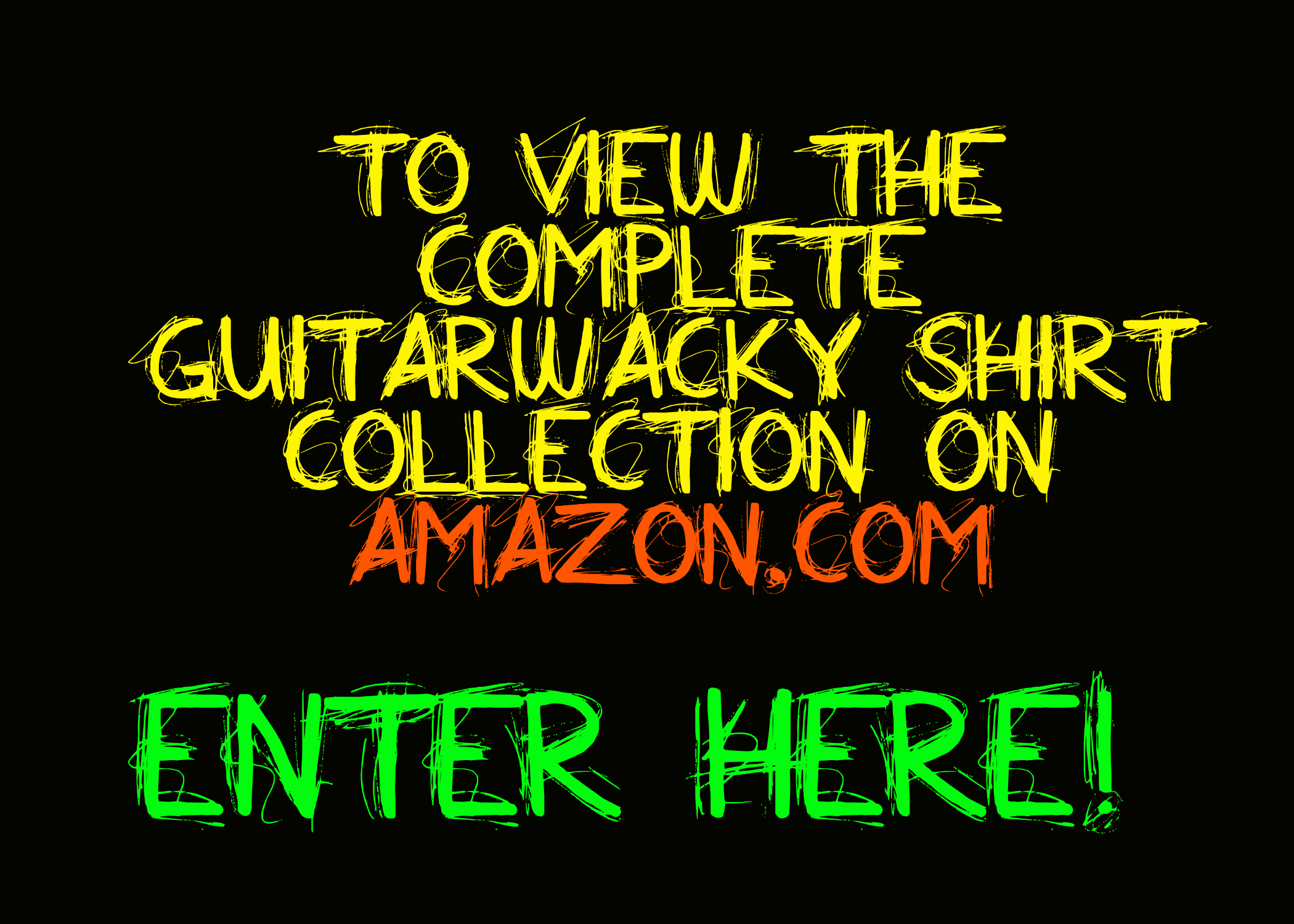Guitarwacky T-Shirt Collection on Amazon