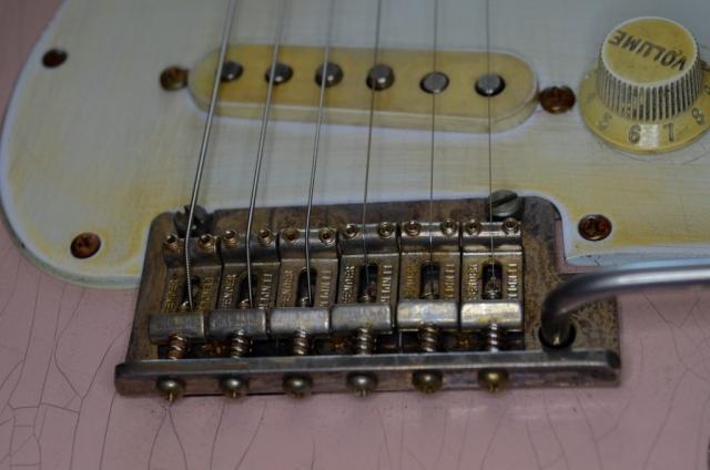 Fender Stratocaster Custom Relic Bridge Guitar Shell Pink Guitarwacky.com