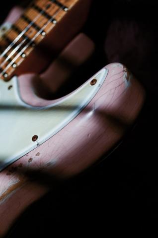 Fender Stratocaster Relic Guitar Shell Pink Guitarwacky.com