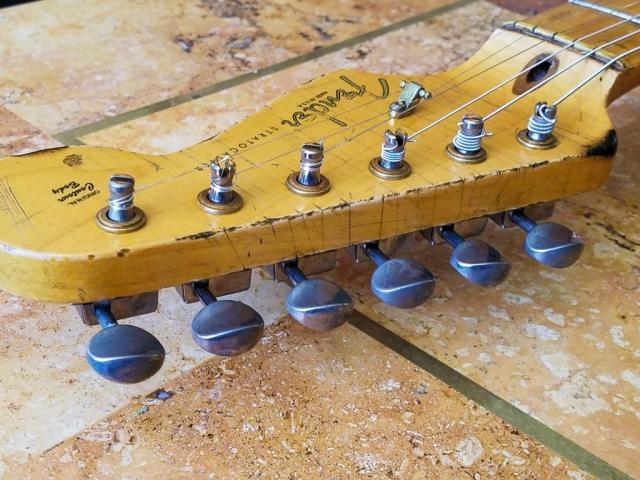 Fender Stratocaster Custom Relic Guitar Headstock Guitarwacky.com