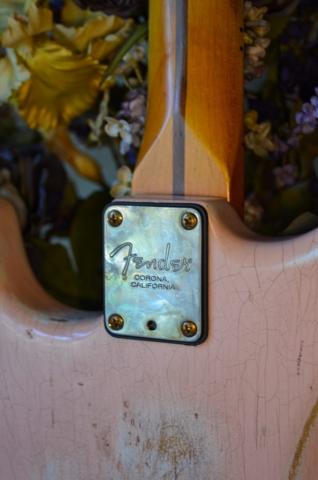 Fender Stratocaster Custom Relic Guitar Shell Pink Guitarwacky.com