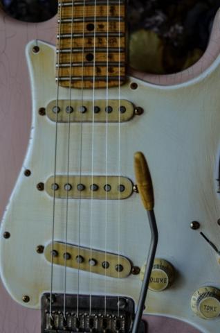Fender Stratocaster Custom Relic Guitar Pickguard Shell Pink Guitarwacky.com