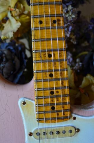 Fender Stratocaster Custom Relic Guitar Neck Shell Pink Guitarwacky.com