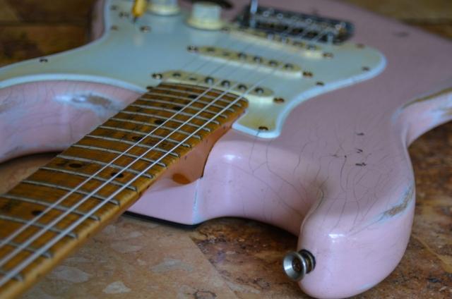 Fender Stratocaster Custom Relic Neck Guitar Shell Pink Guitarwacky.com