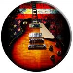 Guitar Vintage Music American Flag - PopSockets Grip and Stand for Phones and Tablets