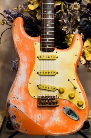 Fender StratocasterRelic Coral Pink Guitarwacky.com