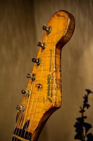 Fender Stratocaster Relic Guitar Headstock Guitarwacky.com