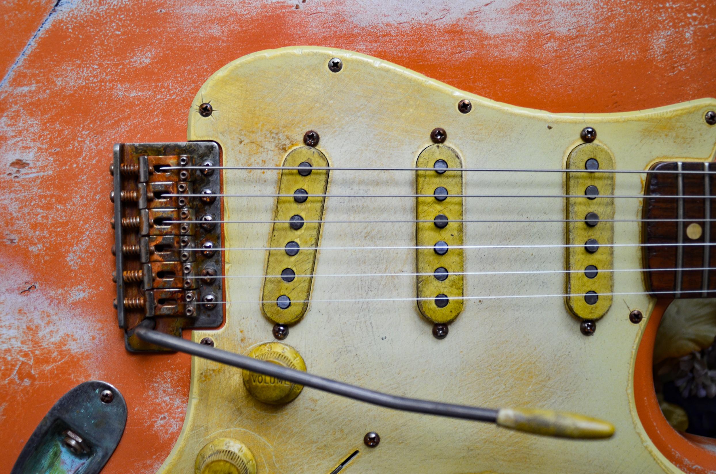 Fender Stratocaster Bridge Coral Relic Guitarwacky.com