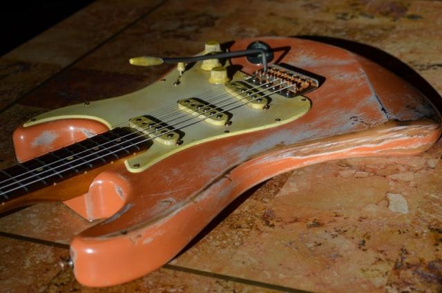 Fender Stratocaster Custom Relic Guitar Coral Pink Guitarwacky.com