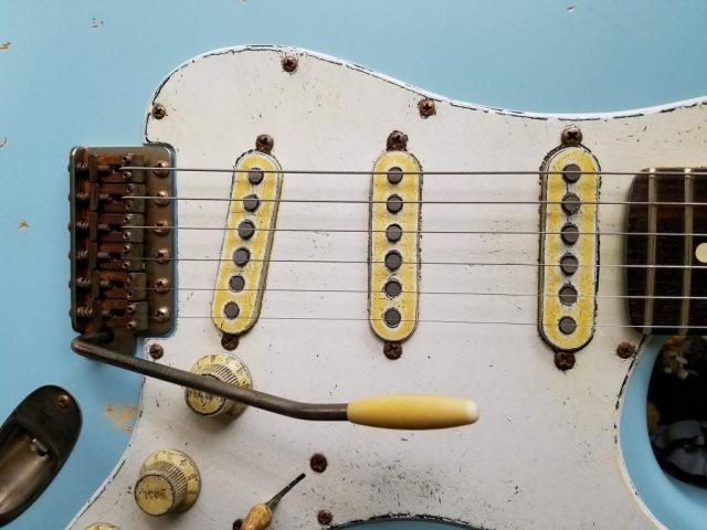 Daphine Blue Fender Stratocaster Relic Guitarwacky.com