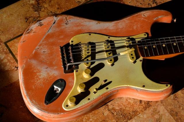 Guitarwacky,com Custom Coral Stratocaster Relic Guitar