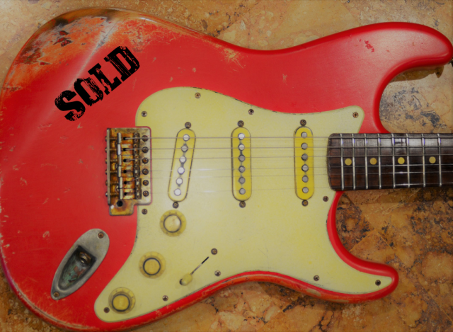 Fender Strat Relic Fiesta Red on Coral Guitarwacky.com