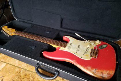 Fiesta Red Custom Relic Fender Stratocaster Strat Guitarwacky.com
