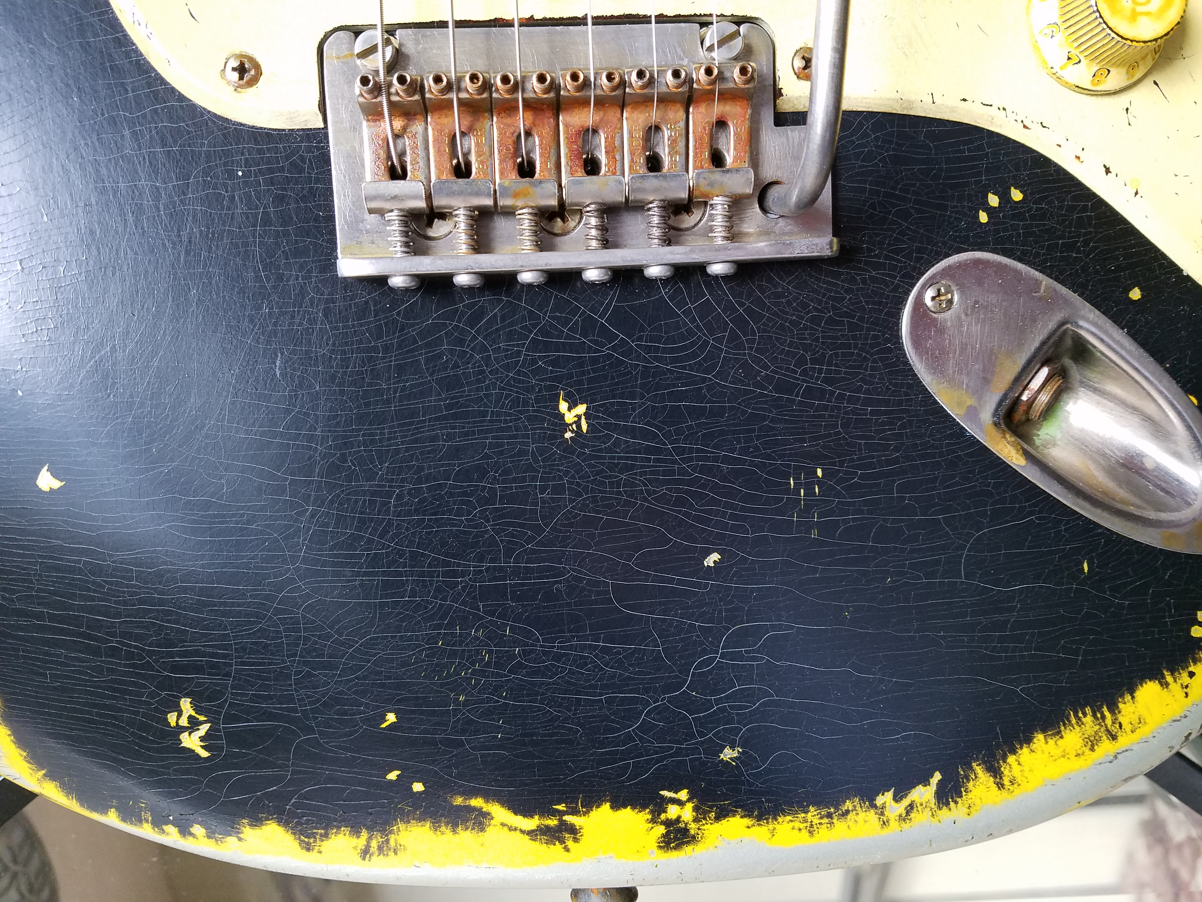 Finish Checking Fender Stratocaster Heavy Relic Guitarwacky.com