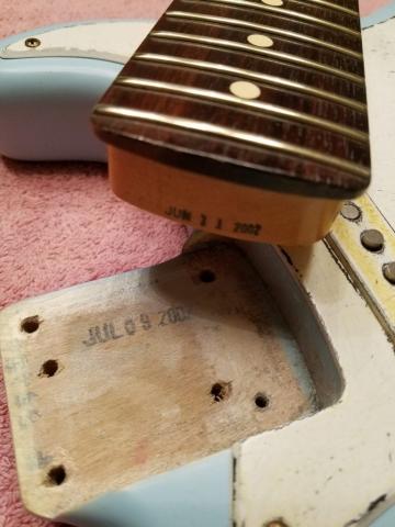 Fender Stratocaster Relic Daphne Blue Neck Pocket Guitarwacky.com