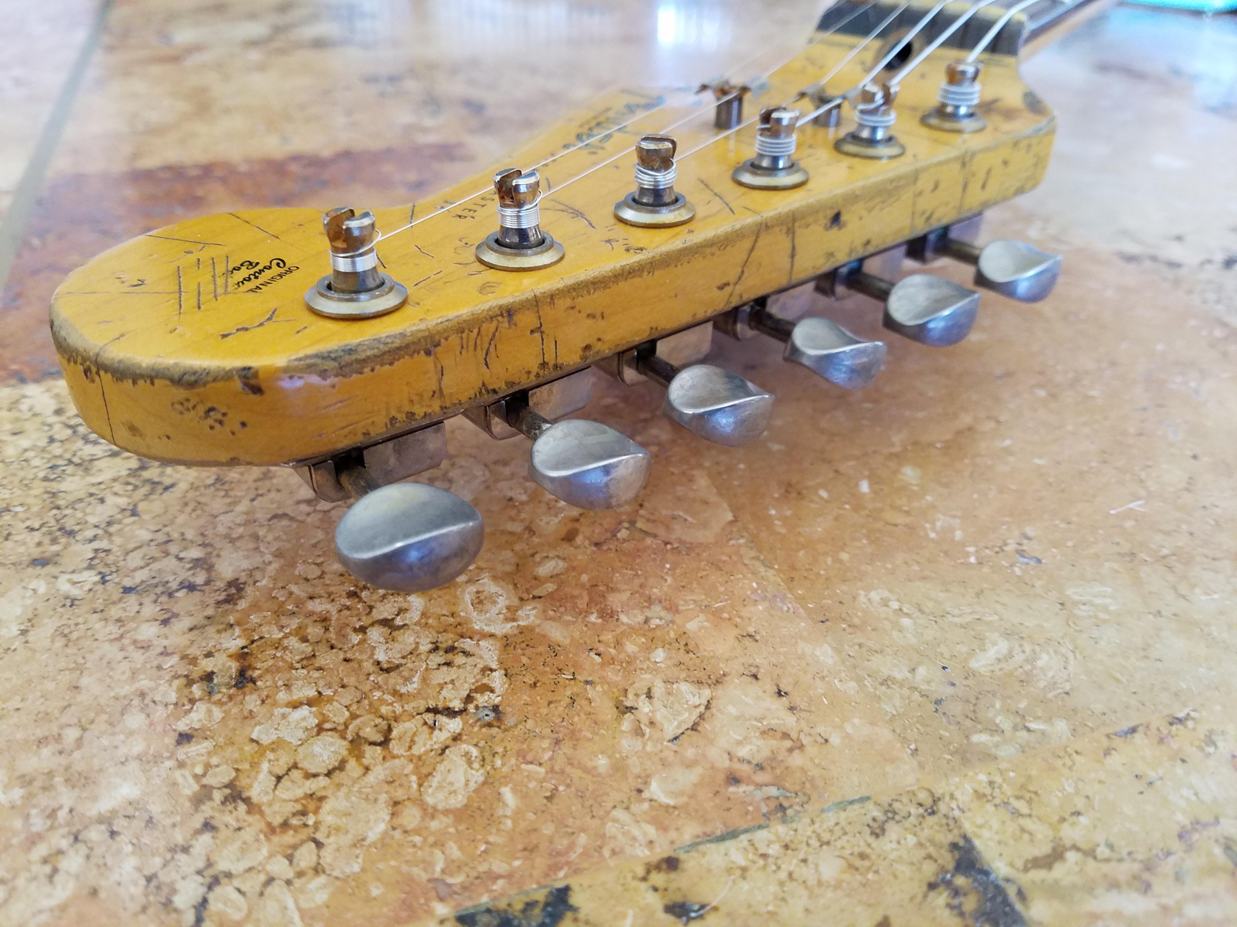 Aged Fender Strat Headstock Relic