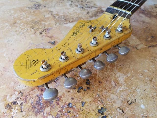 Pings Relic Headstock Fender Stratocaster