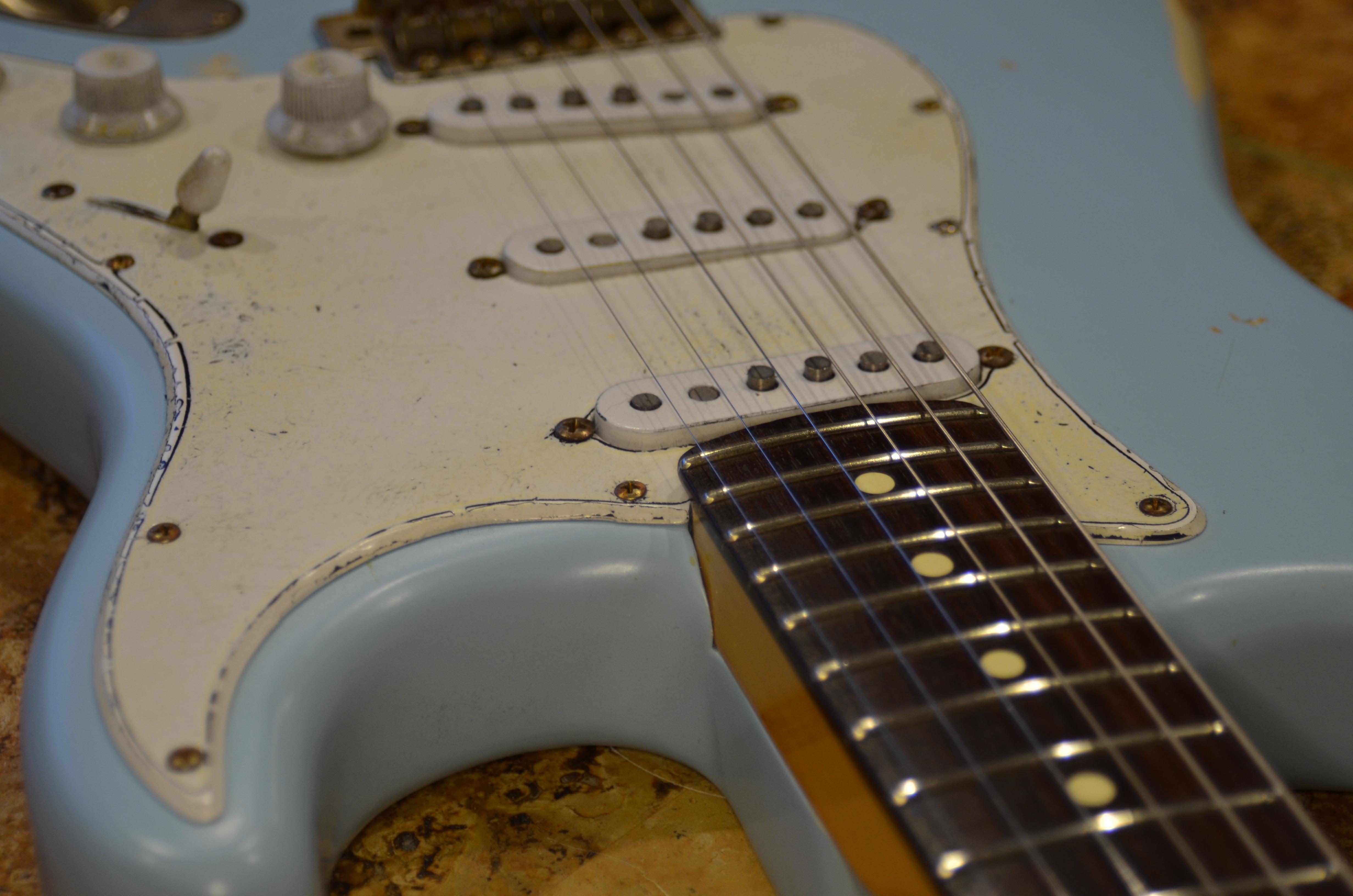 Daphne Blue Fender Relic Guitar