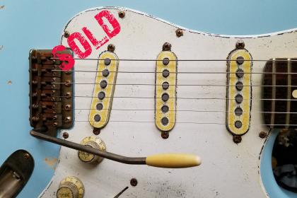 Fender Strat Daphne Blue Guitarwacky.com