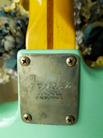 Fender Stratocaster Aged Surf Green Neck Plate Guitarwacky.com