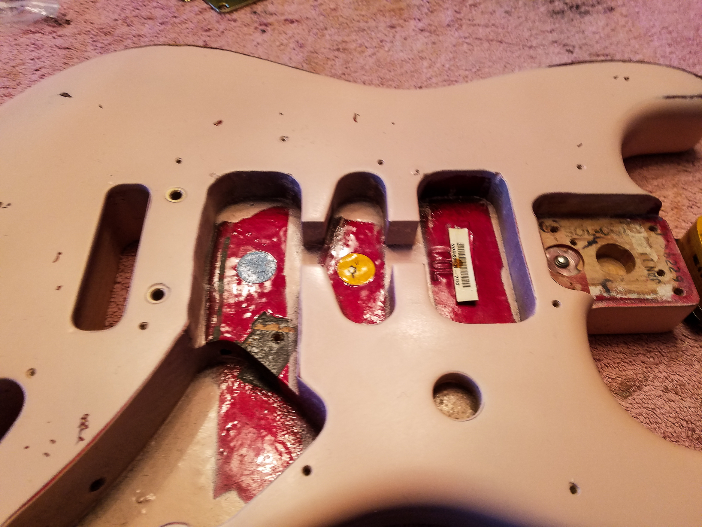 Fender Stratocaster Shell Pink Relic Body Guitarwacky.com