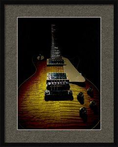 59 Reissue Les Paul Spotlight Series Framed Print Guitarwacky.com
