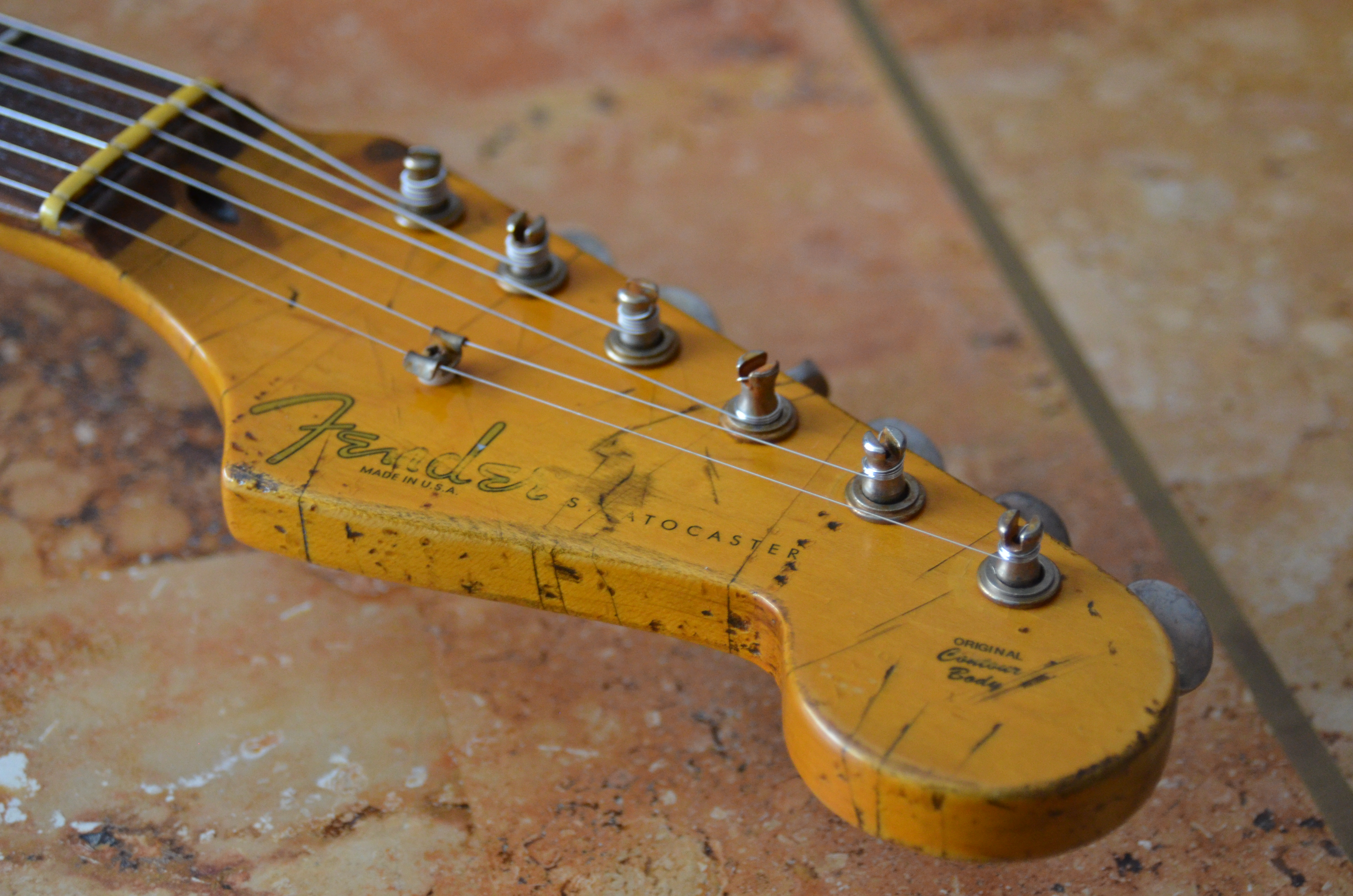 Fender Stratocaster Relic Headstock Pings Tuners Guitarwacky.com