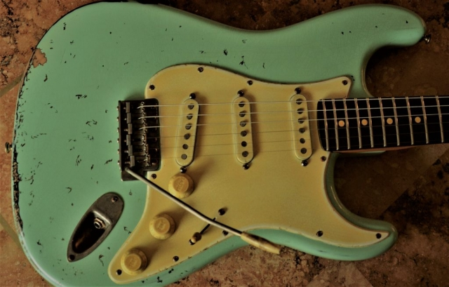 Fender Stratocaster Aged Surf Green Guitarwacky.com