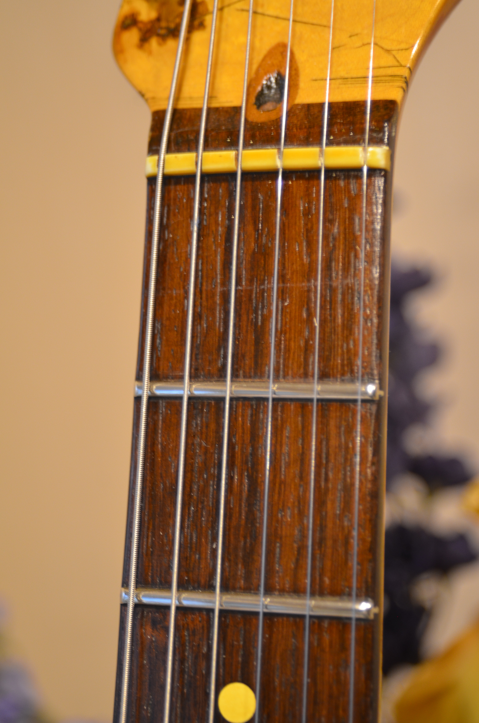 Fender Stratocaster Rosewood Neck Frets Guitarwacky.com