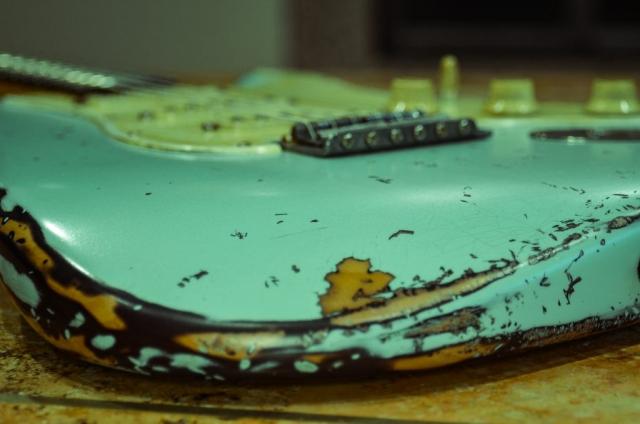 Fender Stratocaster Surf Green Relic Guitarwacky.com