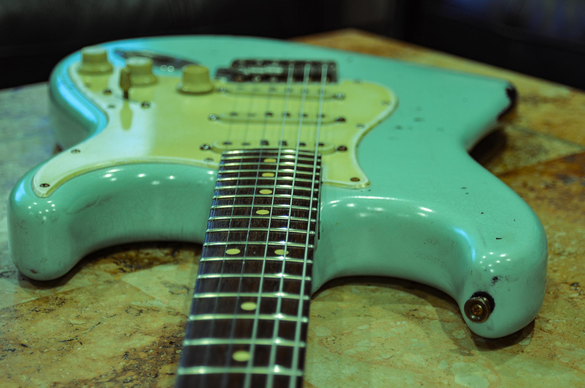 Fender Stratocaster Surf Green Relic Neck Guitarwacky.com