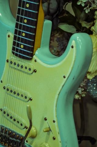Fender Stratocaster Heavy Relic Surf Green Relic Guitarwacky.com