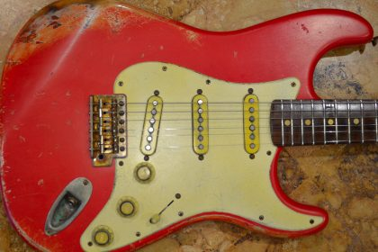 Vintage Fender Stratocaster Relic Fiesta Red Over Coral