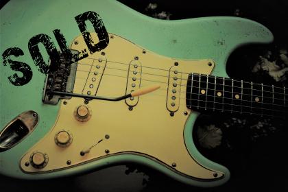 Fender Stratocaster Recli Surf Green Guitarwacky.com