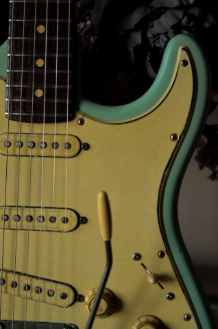Fender Stratocaster Heavy Relic Surf Green Pickguard Guitarwacky.com