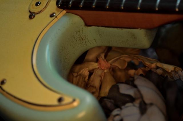 Heavy Relic Surf Green Nitro Finish Checking Guitarwacky.com