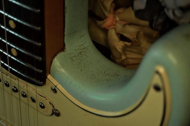 Fender Strat Relic Surf Green Guitarwacky.com