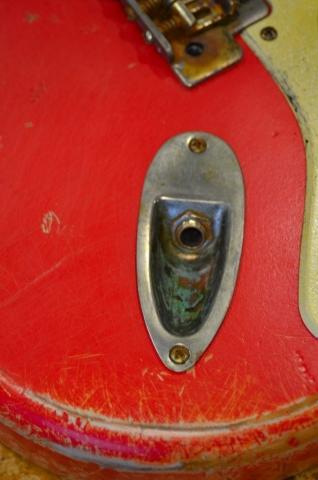 Fender Stratocaster Relic Fiesta Red Guitar Plug Jack Guitarwacky.com