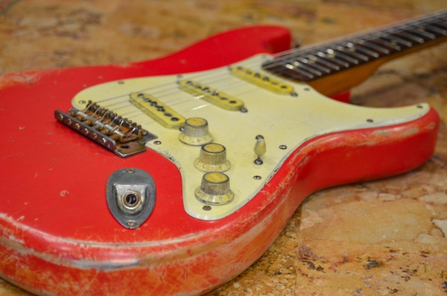 Fender Stratocaster Relic Fiesta Red on Coral Guitarwacky.com