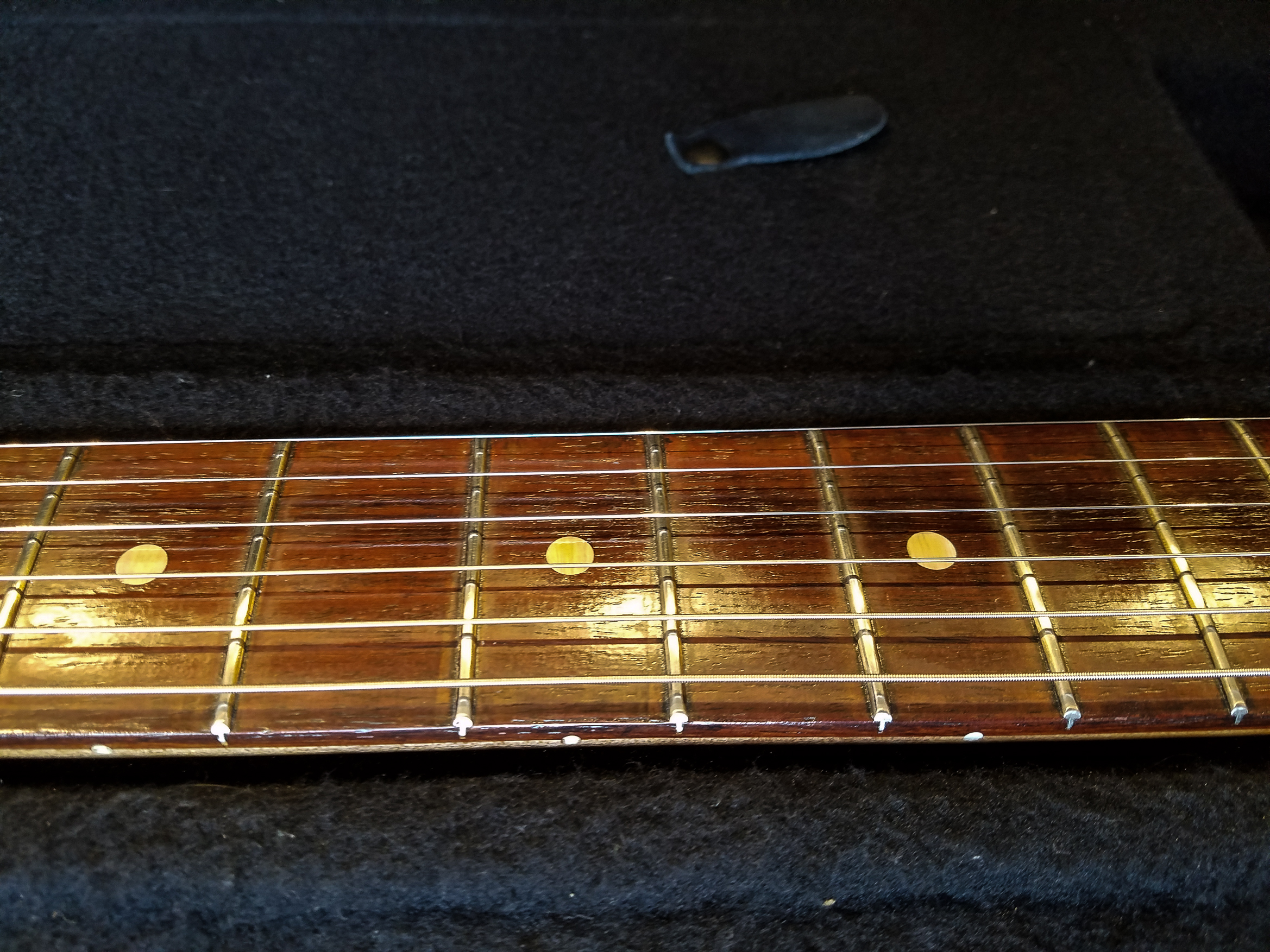 Fender Stratocaster Relic Rosewood Neck Frets Guitarwacky.com