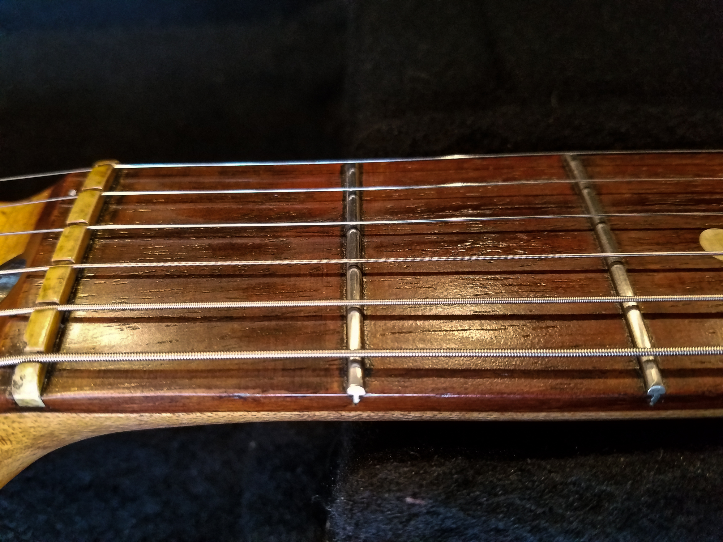 Fender Stratocaster Relic Nut Rosewood Neck Frets Guitarwacky.com