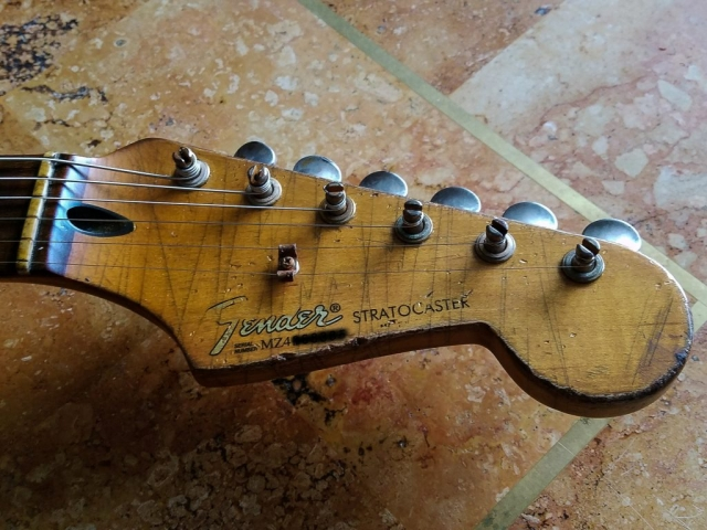 Fender Stratocaster Relic Headstock Ping Vintage Tuners Guitarwacky.com