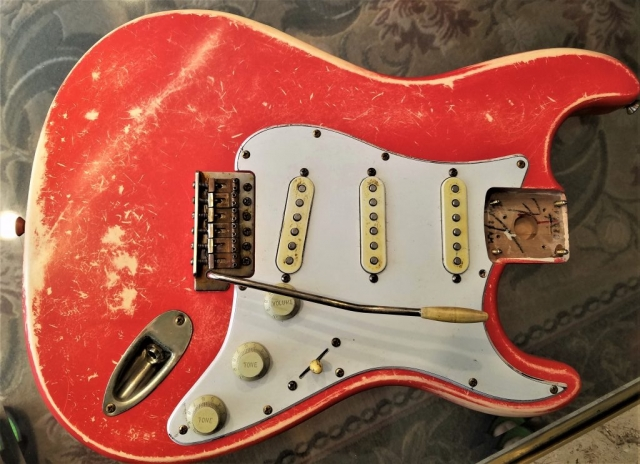 Fender Loaded Body Stratocaster Fiesta Red Custom Relic Guitarwacky.com