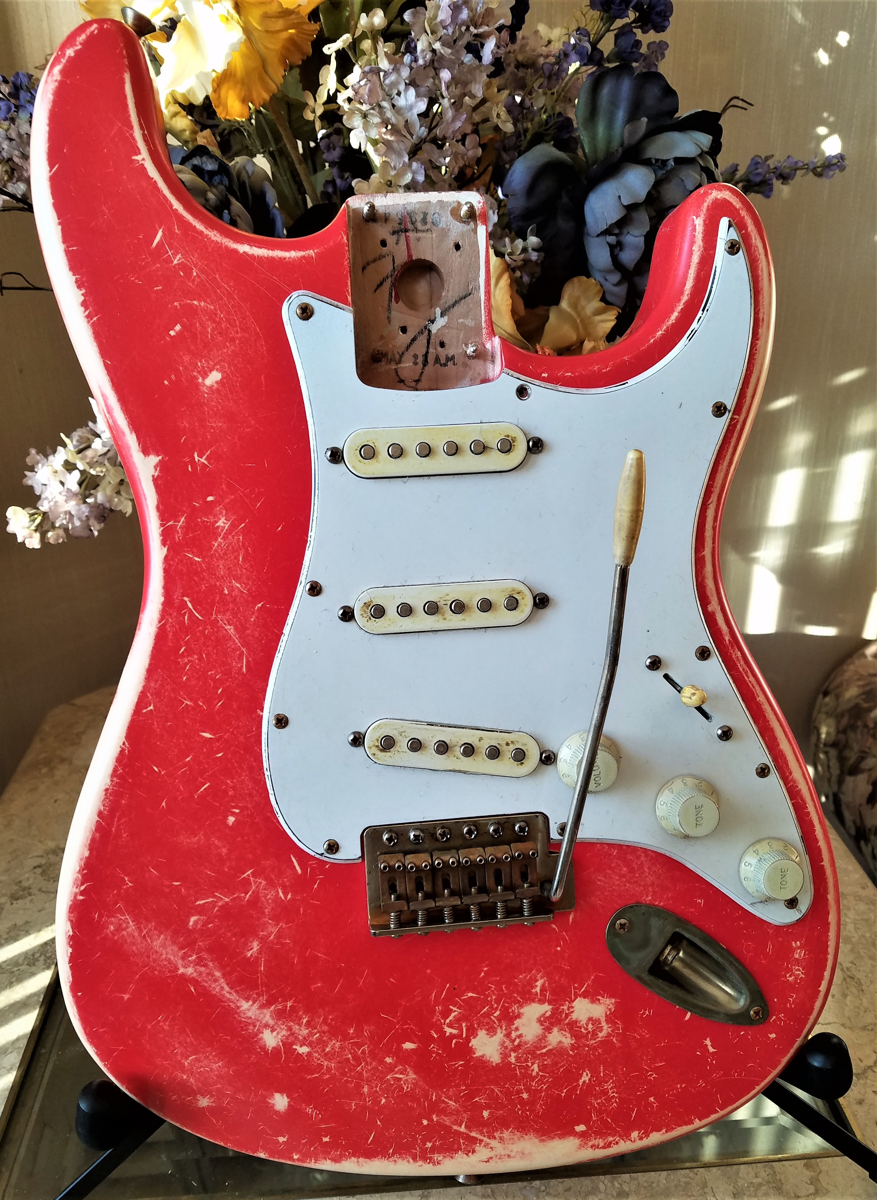 Fender Stratocaster Fiesta Red Loaded Body Custom Relic Guitarwacky.com